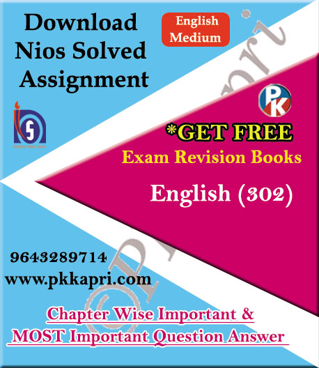 302 English NIOS TMA Solved Assignment English Medium in Pdf