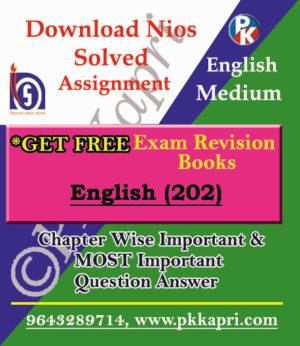 NIOS English TMA (202) Solved Assignment -English Medium in Pdf