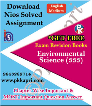 333 Environmental Science NIOS TMA Solved Assignment 12th English Medium in Pdf