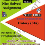 315 History NIOS TMA Solved Assignment 12th Hindi Medium in Pdf
