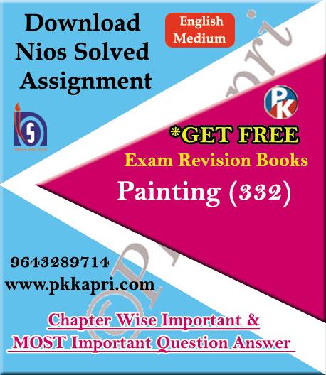 332 Painting NIOS TMA Solved Assignment 12th English Medium in Pdf