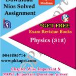 312 Physics NIOS TMA Solved Assignment 12th English Medium in Pdf