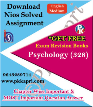 328 Psychology NIOS TMA Solved Assignment 12th English Medium in Pdf