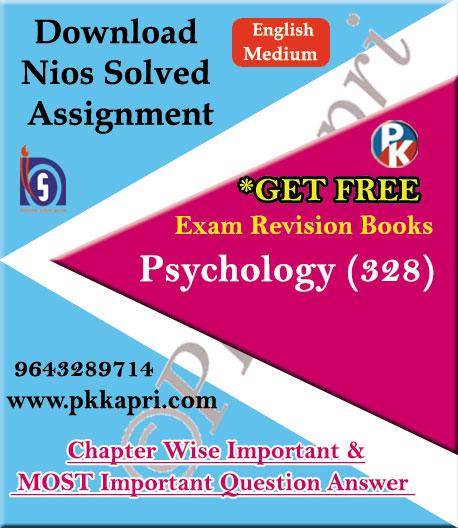 328 Psychology NIOS TMA Solved Assignment 12th English Medium in Pdf