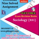 331 Sociology NIOS TMA Solved Assignment 12th English Medium in Pdf