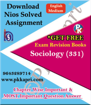 331 Sociology NIOS TMA Solved Assignment 12th English Medium in Pdf