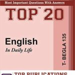 TOP IGNOU T-BEGLA-135 English in daily life - Most important questions with answers