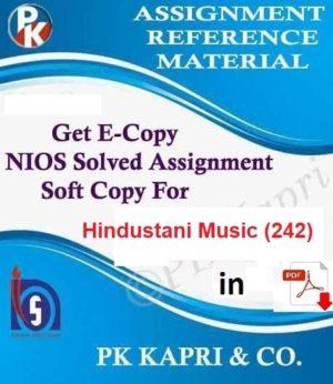Nios Hindustani Music 242 Solved Assignment (TMA) 10th (Hindi Medium) Pdf