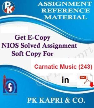 Nios Carnatic Music 243 Solved Assignment (TMA) 10th