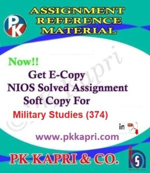 Military Studies (374) Nios Solved Assignment (English Medium) Pdf