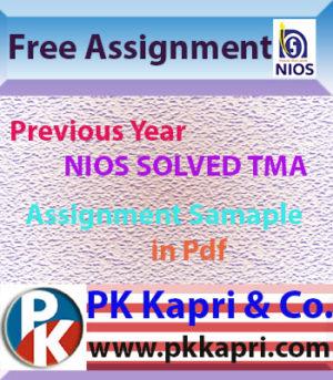 Free Nios Solved Assignment TMA