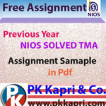 Nios Solved Assignment 12th Class