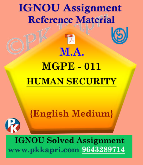 MGPE-011 Human Security In English Solved Assignment Ignou