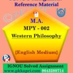 ignou mpy 002 solved assignment english medium