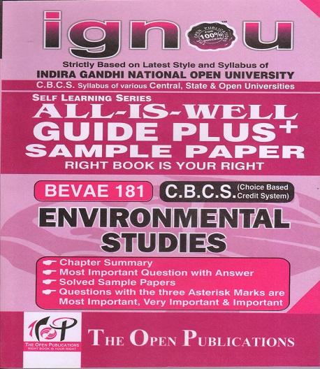IGNOU BEVAE 181 Environmental Studies Guide Plus Sample Paper English Medium